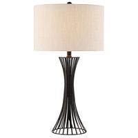 Lite Source LS-23057 Efton 30 inch 150 watt Matte Black Table Lamp Portable Light