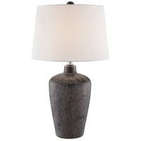Lite Source LS-23062WHT Clayton 27 inch 150 watt Bronze Table Lamp Portable Light