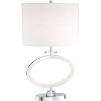 Lite Source LS-23074 Renia (II) 29 inch 100 watt Chrome Table Lamp Portable Light