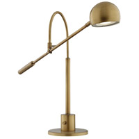 Randall 25 inch 8 watt Antique Brass Desk Lamp Portable Light