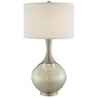 Lite Source LS-23170 Vanessa 32 inch 100 watt Brushed Nickel and Mercury Glass Table Lamp Portable Light