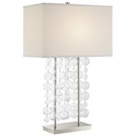 Lite Source LS-23172 Tribeca 30 inch 100 watt Chrome and Clear Table Lamp Portable Light