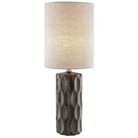 Lite Source LS-23190G Halsey 25 inch 60 watt Gunmetal Ceramic Table Lamp Portable Light