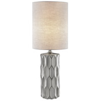 Lite Source LS-23190SILV Halsey 25 inch 60 watt Silver Ceramic Table Lamp Portable Light