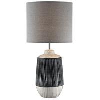 Lite Source LS-23317GRY/GRY Montana 25 inch 60 watt Table Lamp Portable Light