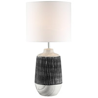 Lite Source LS-23317GRY/WHT Montana 25 inch 60 watt Table Lamp Portable Light