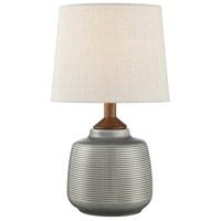 Lite Source LS-23345GREY Lismore 17 inch 60 watt Table Lamp Portable Light