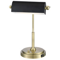 Lite Source LS-23392AB Caileb 19 inch 6.5 watt Table Lamp Portable Light