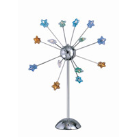Lite Source Starstruck 14 Light Table Lamp in Chrome with Multi Star Glass LS-2614C/MULTI