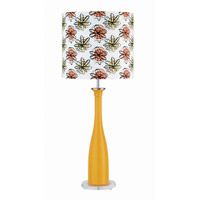 Lite Source Fantah 1 Light Table Lamp in Orange Glass with Color Printed Shade LS-2687ORN