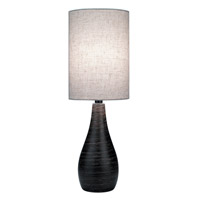 Quatro 28 inch 13 watt Brushed Dark Bronze Table Lamp Portable Light