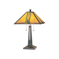 Maple Jewel 24 inch 13 watt Aged Bronze Table Lamp Portable Light
