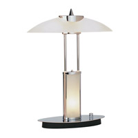 Lite Source Tycoon 3 Light Desk Lamp in Chrome with Frosted Glass Shade LS-3797C/FRO