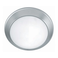 Lite Source Glow Pan 2 Light Flush Mount in Satin Steel with Frost Glass LS-5312SS