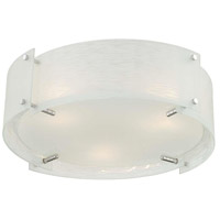 Lite Source LS-5419C/FRO Kaelin 3 Light 17 inch Chrome Flush Mount Ceiling Light