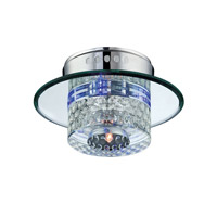 Lite Source Quotom 5 Light Flush Mount in Crystal and Glass LS-5611