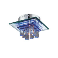 Lite Source Quotom 5 Light Flush Mount in Crystal and Glass LS-5612