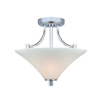 Lite Source Ragnar 2 Light Semi-Flush Mount in Chrome with Frost Glass Shade LS-5729