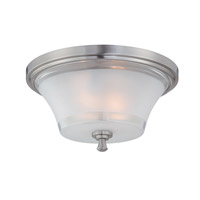Lite Source LS-5731 Niccolo 2 Light 15 inch Polished Steel Flush Mount Ceiling Light