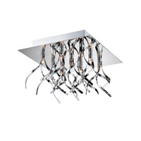Lite Source Ferill 9 Light Flush Mount in Chrome LS-5735