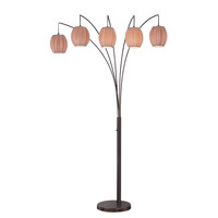 Lite Source Signature 5 Light Arch Lamp in Copper Bronze LS-82795