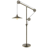 Lite Source LS-83117 Garrad 60 inch 60 watt Antique Silver Pulley Floor Lamp Portable Light