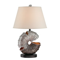 Lite Source LSF-22414 Nautilus 28 inch 25 watt Aged Silver Table Lamp Portable Light