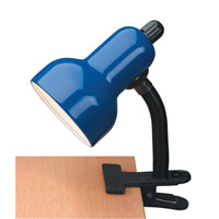 Lite Source Clip-on 1 Light CFL Clamp-on Lamp in Blue LSF-111BLU
