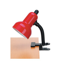 Lite Source Clip-on 1 Light CFL Clamp-on Lamp in Red LSF-111RED