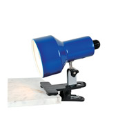 Lite Source Clip-on II 1 Light CFL Clamp-on Lamp in Blue LSF-114BLU