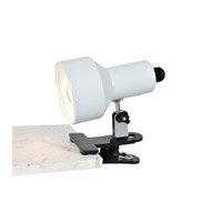 Lite Source Clip-on II 1 Light CFL Clamp-on Lamp in White LSF-114WHT