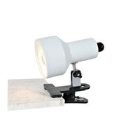 Lite Source LSF-114WHT Clip-On II 7 inch 13 watt White Desk Lamp Portable Light