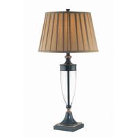 Lite Source LSF-21415 Fergal 32 inch 25 watt Dark Bronze and Clear Table Lamp Portable Light