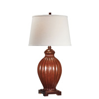 Lite Source Colletta 1 Light CFL Table Lamp in Brushed Brown with Off-White Shade LSF-21828
