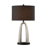 Lite Source LSF-21873 Bambina 32 inch 25 watt Shimmering Silver and Black Table Lamp Portable Light