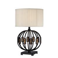 Lite Source LSF-22166 Topaz 28 inch 25 watt Black and Semi Transparent Table Lamp Portable Light