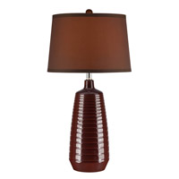 Lite Source Ailani 1 Light CFL Table Lamp in Coffee with Coffee Fabric LSF-22237COFFEE