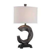 Trisha 31 inch 25 watt Brushed Bronze Table Lamp Portable Light