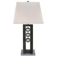 Lite Source LSF-2450 Pelota 32 inch 25 watt Dark Walnut and Polished Steel Table Lamp Portable Light