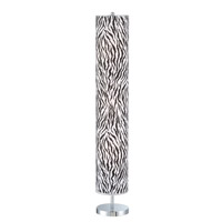 Lite Source Carson 3 Light CFL Floor Lamp in Chrome with Printed Paper Shade LSF-81667