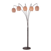 Signature 87 inch 13 watt Copper Bronze Arch Lamp Portable Light