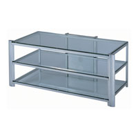 Lite Source Davis TV Furniture in Silver and Clear Glass LSH-5611SILV