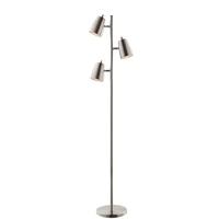 Lite Source LS-83120BN Ronnie 65 inch 40 watt Brushed Nickel Floor Lamp Portable Light