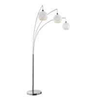 Lite Source LS-83132 Pandora 85 inch 60 watt Brushed Nickel Arch Lamp Portable Light
