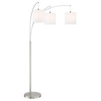 Lite Source LS-83282WHT Norlan 93 inch 60 watt Arch Lamp Portable Light