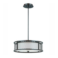 Lumenno International Series 1000 4 Light Pendant in Bronze with White Frosted Glass 1000-02-20