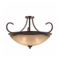 Series 1001 4 Light 27 inch Bronze Semi Flush Ceiling Light