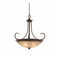 Series 1001 4 Light 27 inch Bronze Pendant Ceiling Light