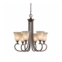 Series 1001 6 Light 27 inch Bronze Chandelier Ceiling Light