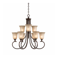 Series 1001 9 Light 30 inch Bronze Chandelier Ceiling Light